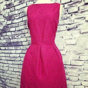 BR Magenta Lace Aline Party Dress